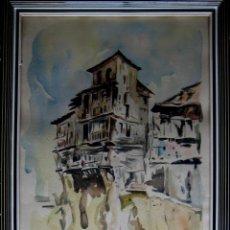 Arte: CASAS COLGADAS DE CUENCA. FIRMADO CORELLA.. Lote 43593581