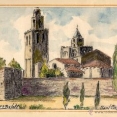 Arte: ACUARELA DE DOMINGO SERRA BOFILL —SANT CUGAT—PINTOR DE SABADELL. Lote 43596705
