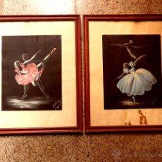 Arte: PAREJA DE ACUARELA.FIRMADAS M.GIBERT.DANZA. Lote 43654967