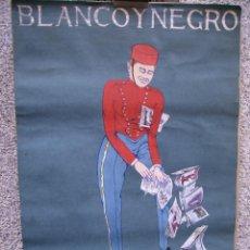 Arte: PINTURA ORIGINAL, PARA LA PORTADA DE BLANCO Y NEGRO,CREO QUE DE EULOGIO VARELA, HACIA 1920.. Lote 43740359
