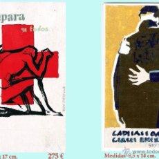 Arte: REY PADILLA, SEBASTIAN, BOCETOS ORIGINALES,CARTULINA -ACUARELA DE PUBLICIDAD DE CRUZ ROJA. FIRMADOS.. Lote 44062833