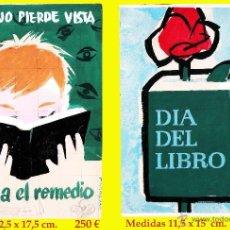 Arte: REY PADILLA, SEBASTIAN, BOCETO ORIGINAL,CARTULINA -ACUARELA-PUBLICIDAD DEL LIBRO. FDO, 12,5 X 17,5 .. Lote 44063376