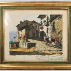 Arte: DE SOTO, ACUARELA FIRMADA Y DEDICADA, TAMAÑO MARCO: 29X34 CM. VER FOTOS ANEXAS.. Lote 107971763