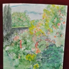 Arte: AGUSTI GUASCH GOMEZ , ACUARELA SOBRE PAPEL. REPRESENTANDO UN PAISAJE. Lote 44368627