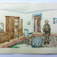 Arte: INTERESANTE RETRATO ORIGINAL DE FINALES DEL SIGLO XIX, ACUARELA, EDOUARD LALO. Lote 44372121