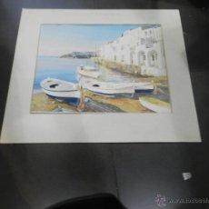 Arte: ACUARELA DE DANILO FERNANDEZ - CADAQUES - 50X39 CM. . Lote 44455016