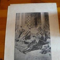 Arte: MÚSICOS ÁRABES - ACUARELA DE A FABRÉS - GRABADO DE JOARIZTI. Lote 44463485
