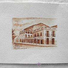 Arte: MINIATURA ACUARELA. CAFES TORREVIEJA. FIRMADA JUNQUERA. Lote 44737613