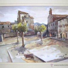 Arte: 248 - ACUARELA 48X70 CON MARCO Y CRISTAL - DIEGO REYES RIBERA - TERRASSA - 1986 . Lote 44875504