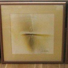 Arte: 220 CM - GRAN FORMATO - TRIPTICO SERIE ENMARCADA 3 PINTURAS GUASH FIRMADAS. Lote 44924984