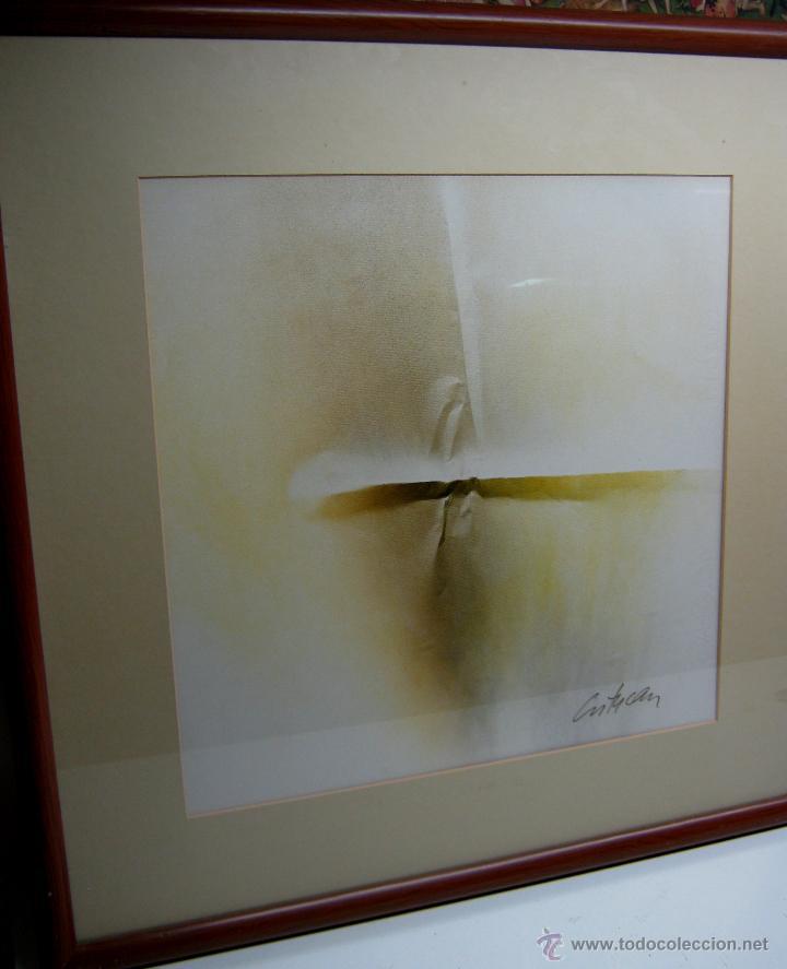 Arte: 220 cm - Gran formato - triptico serie enmarcada 3 pinturas guash firmadas - Foto 3 - 44924984