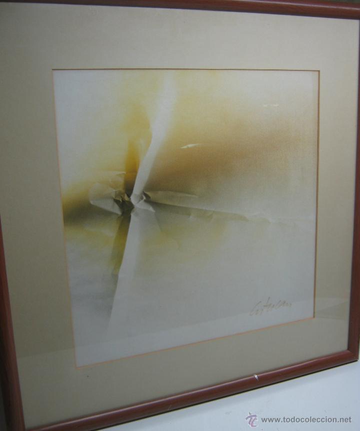 Arte: 220 cm - Gran formato - triptico serie enmarcada 3 pinturas guash firmadas - Foto 4 - 44924984