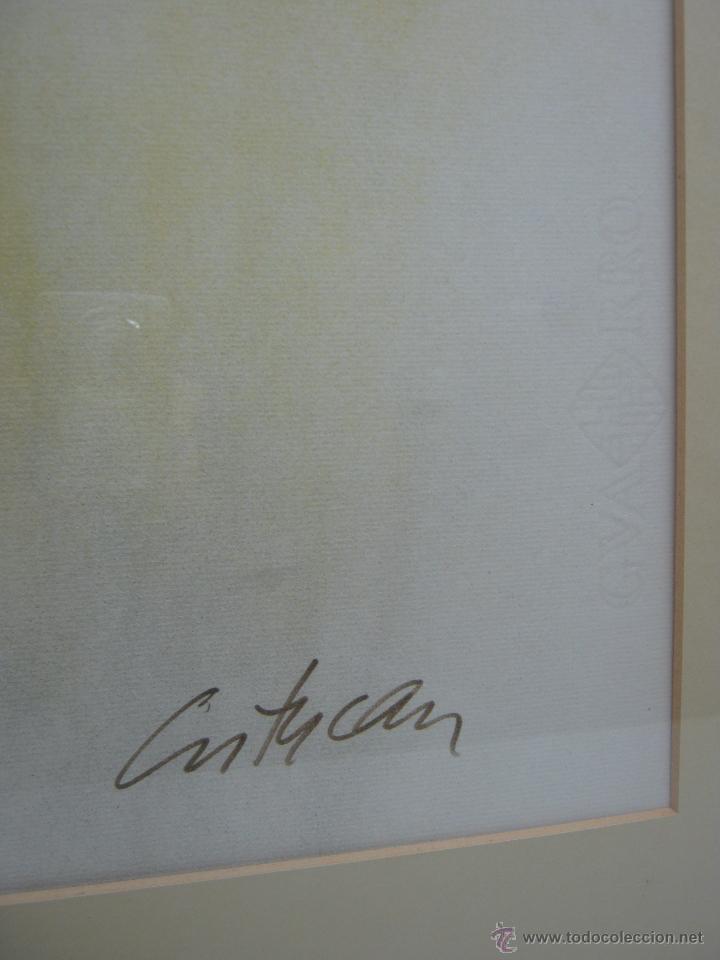 Arte: 220 cm - Gran formato - triptico serie enmarcada 3 pinturas guash firmadas - Foto 8 - 44924984