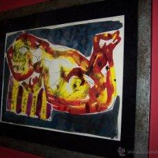 Arte: JOSÉ CABALLERO TÉCNICA MIXTA SOBRE PAPEL 54X74 CM. Lote 44956003