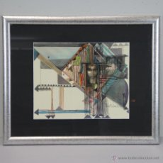 Kunst - ACUARELA DEL ARTISTA BELGA GILBERT LALOUX. ENMARCADA. - 45007761