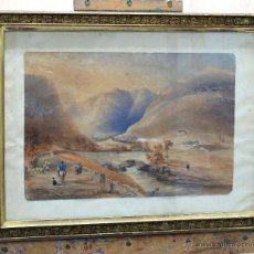 Arte: ACUARELA SOBRE PAPEL PAISAJE CAMPIÑA INGLESA WILLIAM HENRY NUTTER (LONDRES 1790-1864). Lote 45066535