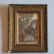 Art: ACUARELA PASTORES A BELEN ROIG D´ALOS FIRMADA SELLADA AÑO 1950. Lote 45266359