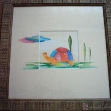 Arte: F. SANTIBÁÑEZ. ACUARELA/PAPEL. 30 X 30 CM. FIRMADA. CERTIFICADO DE GARANTÍA.. Lote 45268637