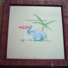 Arte: F. SANTIBÁÑEZ. ACUARELA/PAPEL. 30 X 30 CM. FIRMADA. CERTIFICADO DE GARANTÍA. Lote 45268687