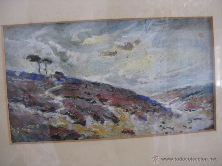 Arte: PEQUEÑA ACUARELA INGLESA SIGLO XIX ENMARCADA - Foto 2 - 45370898