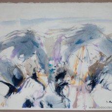 Arte: E. KAJI, ACUARELA 1989. ACUARELA SOBRE PAPEL 25X32 CM. MARCO: 54X46 CM. Lote 45402997