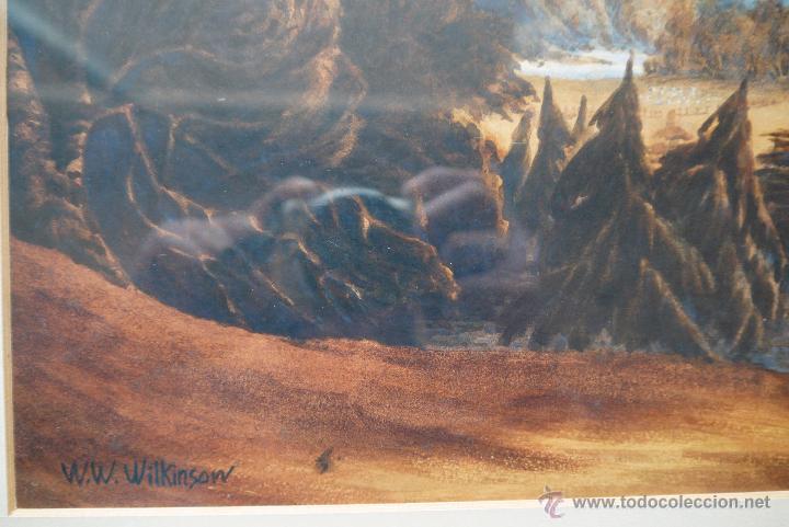 Arte: ESCUELA ALEMANA PRINCIPIOS DEL SIGLO XIX FIRMADO W.W.WILKINSON ACUARELA¡¡¡LIQUIDACIÓN!!!!!! - Foto 3 - 26280017