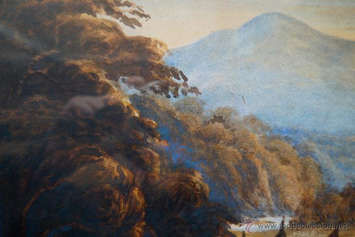 Arte: ESCUELA ALEMANA PRINCIPIOS DEL SIGLO XIX FIRMADO W.W.WILKINSON ACUARELA¡¡¡LIQUIDACIÓN!!!!!! - Foto 4 - 26280017