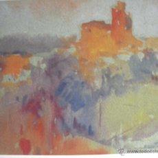 Arte: - ACUARELA DE LLADO DEL AÑO 1978 DE JOSEP MARFA GUARRO DE BARCELONA -. Lote 46118661