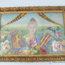 Arte: ENTRAÑABLE ACUARELA ORIGINAL ANTIGUA HOMENAJE A PEPITA SAMPER 1929 PRIMERA MIS ESPAÑA VALENCIA . Lote 46121965