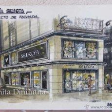 Arte: PRECIOSO DIBUJO ORIGINAL EN ACUARELA DE LA JOYERIA SELECTA ESTUDIO DE ARQUITECTURA SAN MILLAN. Lote 46149086