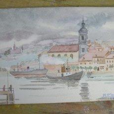 Arte: ACUARELA PAISAJE OBRA ORIGINAL R. FERRANDO AÑOS 80. Lote 46213550