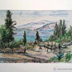 Arte: BONITO PASTEL ORIGINAL, EXQUISITO TRAZO IMPRESIONISTA, COSTA MEDITERRANEA, FIRMADO, 70 X 50 CM. Lote 46275545