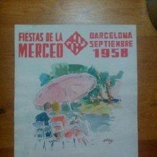 Arte: CARTEL DE LAS FIESTAS DE LA MERCED 1958. J.VIÑOLAS. Lote 46334099