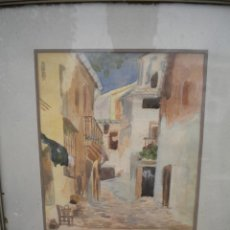 Arte: ACUARELA FIRMADA V. DE PAZ 1938.. Lote 46362736