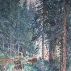 Arte: AÑO 1899. PINTURA ACUARELA. FIRMADO. MEDIDAS 42 X 24 CM. Lote 46397597