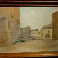 Arte: PAISAJE DE SANT BOI DE LLOBREGAT POR VILOMARA Y MARTINEZ (1864). FIRMADO.. Lote 46465185