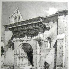 Arte: MOARVES DE OJEDA- PALENCIA - J. PAGESPETIT- IGLESIA DE SAN JUAN BAUTISTA-TINTA A LA CAÑA. Lote 46582873