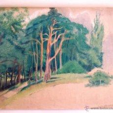 Arte: MARAVILLOSO PASTEL ORIGINAL DE FRANZ MAYER, KARLSRUHE, 23.6.1920, TRAZO IMPRESIONISTA. Lote 46608047