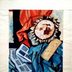 Excelente acuarela original del pintor aleman Wolfgang Brünker. Gran calidad. 45 X 35 cm