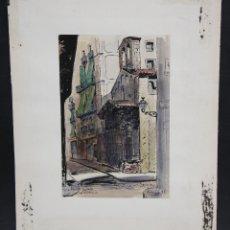 Arte: FIRMADO J. OLIVA I BARRERA, FECHADO DEL 1981. ACUARELA SOBRE PAPEL. PAISAJE. Lote 46765133