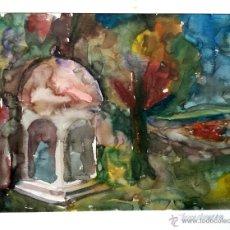 Arte: BONITO PAISAJE EN ACUARELA CON INTERESANTE PINCELADA, FIRMADO Y FECHADO 1966. Lote 46766090