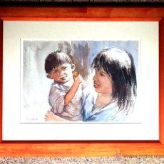 Arte: ACUARELA DE DOLORS BARBERAN.COMO NUEVO. Lote 46953295