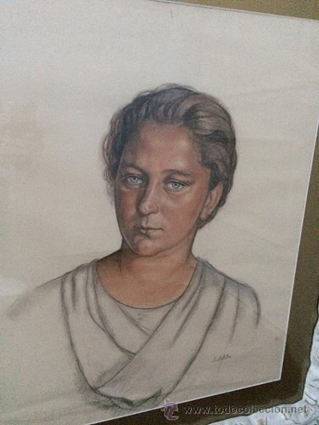 AURELIO ARTETA BILBAO1879-MEXICO1.940 (RETRATO DE SU 2ª ESPOSA) (Arte - Acuarelas - Contemporáneas siglo XX)