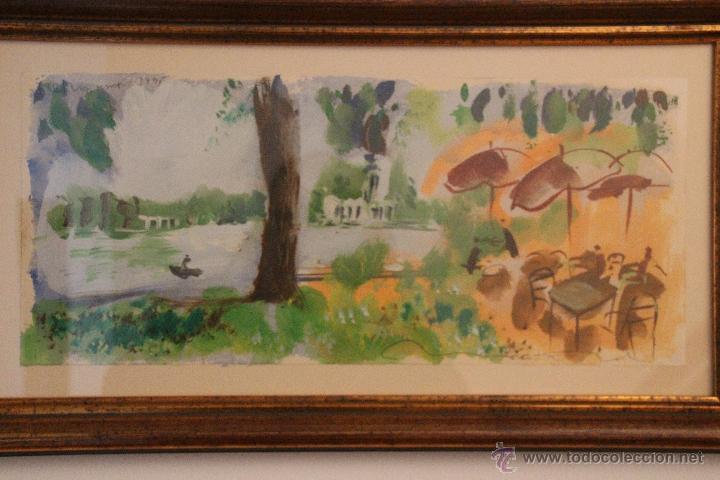 JAVIER MONTESOL, ACUARELA SOBRE PAPEL 60 X 30 CM (Arte - Acuarelas - Contemporáneas siglo XX)