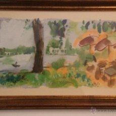 Arte: JAVIER MONTESOL, ACUARELA SOBRE PAPEL 60 X 30 CM. Lote 47059164