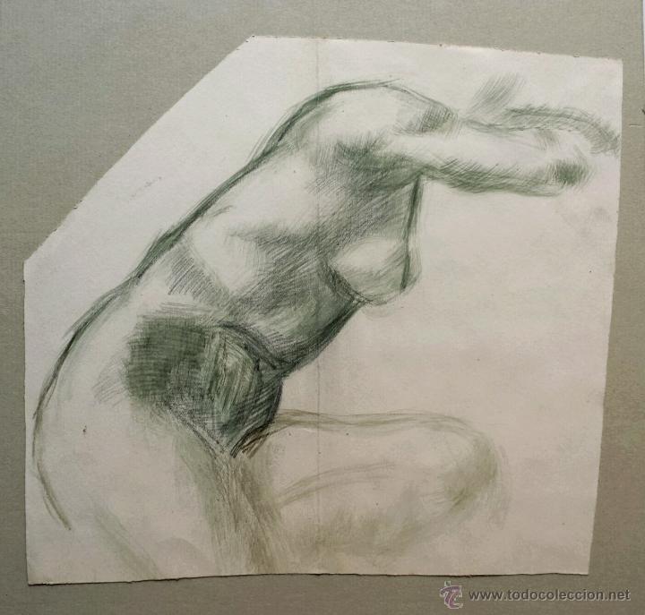 MARAVILLOSA DESNUDO ORIGINAL EN ACUARELA CON PINCELADA IMPRESIONISTA. GRAN CALIDAD (Arte - Acuarelas - Modernas siglo XIX)