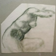 Arte: MARAVILLOSA DESNUDO ORIGINAL EN ACUARELA CON PINCELADA IMPRESIONISTA. GRAN CALIDAD. Lote 47104698