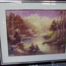 Arte: SANCHO FAUSTE, LOGROÑO , ACUARELA FIRMADA. 1918-1986 64X50CM PRECIO:350€. Lote 47286962