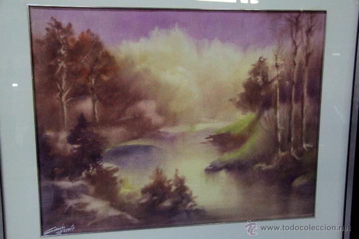 Arte: SANCHO FAUSTE, LOGROÑO , ACUARELA FIRMADA. 1918-1986 64X50CM PRECIO:350€ - Foto 3 - 47286962