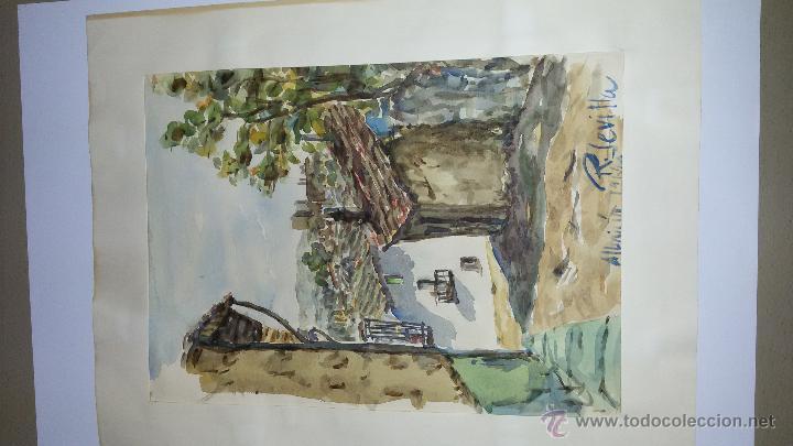 Arte: INTERESANTE ACUARELA SOBRE EL ALBAICÍN,HACIA 1960-FIRMADA - Foto 2 - 47616189